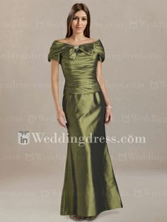 One shoulder chiffon dress for mother of the bride with empire ...