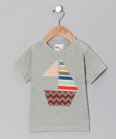 Take a look at this Gray Seaside Sailboat Tee - Infant, Toddler & Girls by Gus & Lola on #zulily today!