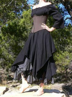 Renaissance Gypsy Clothing | Gypsy Dress Wench Renaissance Costume Maroon XS M | eBay