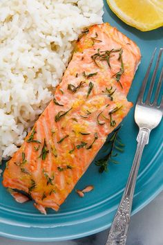 Lemon, Garlic, and Thyme Baked Salmon - Baker by Nature Baked Salmon Recipes, Fish Recipes, Seafood Recipes, Cooking Recipes, Healthy Recipes, Fish Dishes, Seafood Dishes, Fish And Seafood, Simple Baked Salmon