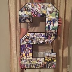 Wooden letters and wooden numbers. Senior night gifts for high school senior athletes, college senior athletes, sports lovers and coaches. Giant Letters, Wooden Letters, Senior Night Gifts, Birthday Collage, Graduation Party Planning, Wooden Numbers, Wooden Cutouts, Handmade Items, Handmade Gifts