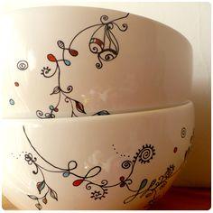 porcelana pintadas