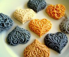 Gorgeous textured hearts