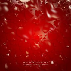 Red Valentine Heart Background #freevectors
