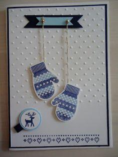 Make a mitten, Stampin up`!