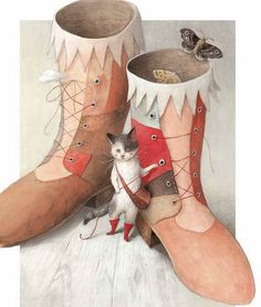 Illustration from 'Puss & Boots' by Ayano Imai.