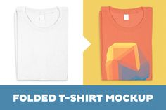 Folded T-Shirt Mockup Template by tyunderscore on @creativemarket
