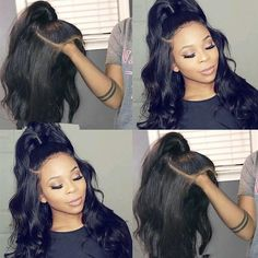 Brazilian Virgin Hair Pre-Plucked Full Lace Wigs Natural Wave With Baby Hairs Trending Hairstyles, Weave Hairstyles, Straight Hairstyles, Protective Hairstyles, Short Hair Wigs, Wavy Hair, Long Wigs, Hair Updo, Human Lace Wigs