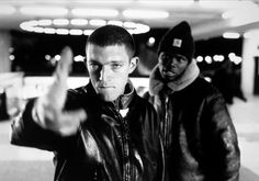 "Mathieu Kassovitz' La Haine. ""Although drug dealing, urban decay, and police brutality have been shown in films before, rarely have they had the sense of vitality and urgency shown in La Haine. The film makes a powerful statement that violence does not solve anything and that hate begets hate."""