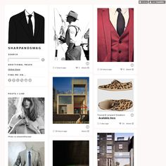Sharp & Swag is using Style Hatch Premium Tumblr theme Inspire Well