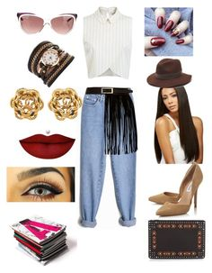 """""""Yes ma'am!"""" by karima-dorsey ❤ liked on Polyvore featuring Miss Selfridge, Steve Madden, Gottex, River Island, Yves Saint Laurent, Anastasia Beverly Hills and Givenchy"""