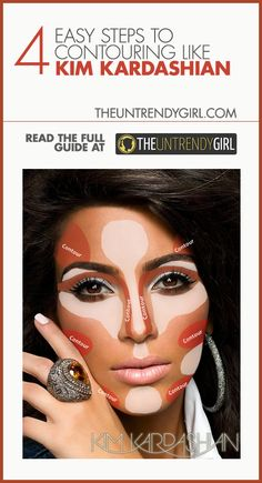 4 Easy Steps to Contouring Like Kim Kardashian. personally i think it would depend on your face shape but whatever... lol