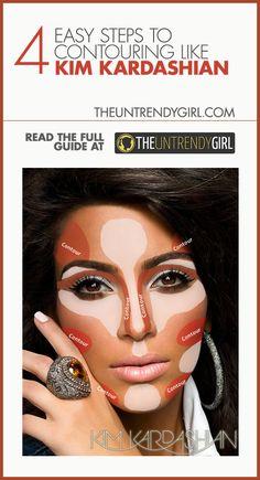 4 Easy Steps to Contouring Like Kim Kardashian - The Untrendy Girl