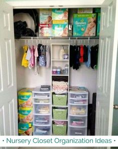 Nursery Closet Organization Ideas And Hacks For Small Baby Closets Diy