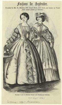 Fashions for September. 1861, Harper's Magazine