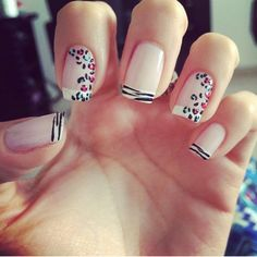 Best Spring Nails - 54 Best Spring Nail Art for 2018 - Best Nail Art Love Nails, Pretty Nails, Fun Nails, Cute Nail Art Designs, Fabulous Nails, Perfect Nails, French Nails, Cute Simple Nails, Nail Art For Beginners