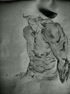 Male body sketch, cuts sketch, thinking about, body illustration, artwork
