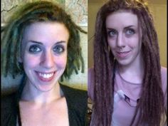 Permanent Dread Extensions - how to make & install with synthetic hair - YouTube