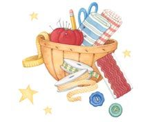 Grandma's Sewing Basket. Art by Gooseberry Patch.