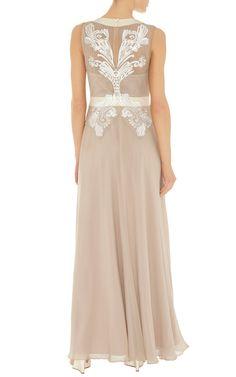 Cutwork and bead maxi dress