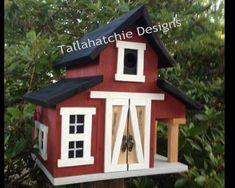 barn birdhouse, rustic barn bird house, outdoor gifts for Dad, small barn birdhouse Rustic Barn, Barn Wood, Farmhouse Style, Farmhouse Decor, Fall Yard Decor, Large Bird Houses, Homemade Bird Houses, Birdhouse Designs, Birdhouse Ideas