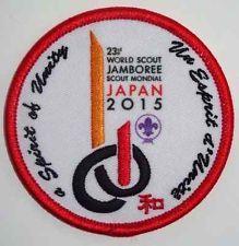 23rd World Scout Jamboree 2015 WSJ Japan Official Participant Badge /Patch