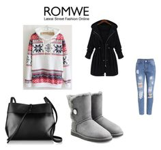 """Snowflake Sweatshirt by ROMWE"" by almaaa789 ❤ liked on Polyvore featuring UGG Australia, Kara, women's clothing, women, female, woman, misses and juniors"