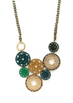 Cara Couture   Tribal Disc Necklace