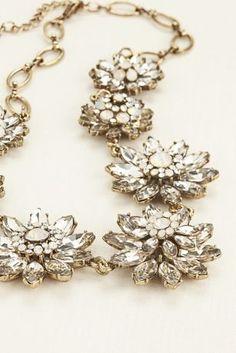 Layered Floral Motif Statement Necklace at David's Bridal