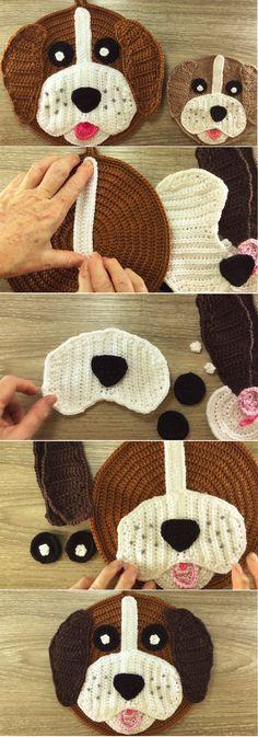 How to Crochet the Dog Potholder