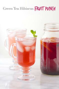 Green Tea Hibiscus Fruit Punch is loaded with healthiness, you'll feel so energized and refreshed with every glass! (No stevia or artificial sweeteners--I'll be using honey or organic sugar) Refreshing Drinks, Yummy Drinks, Healthy Drinks, Fancy Drinks, Best Vegan Recipes, Favorite Recipes, Vegan Blogs, Sweet Recipes, Healthy Recipes