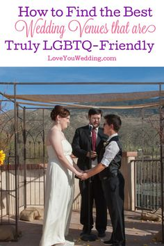 Need to know how to find the best LGBTQ-friendly wedding venues? Take a look at our handy guide with tips and tricks to try! Lesbian Wedding Rings, Lgbt Wedding, Wedding Spot, Wedding Vendors, Dream Wedding, Weddings, Transgender Couple, Wedding Planning Book, Two Brides