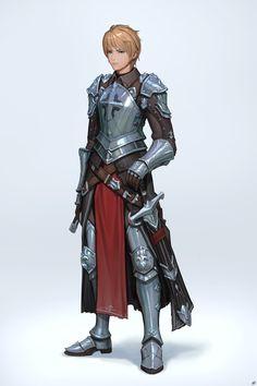 f Fighter plate sword ArtStation - knight, dae jun park
