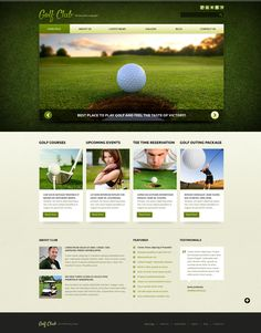 Joomla Template , Golf