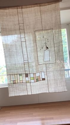 Patchwork Curtains, Studio Apt, Through The Window, Easy Wall, Room Interior Design, Patch Quilt, Textile Artists, Quilts, House Styles