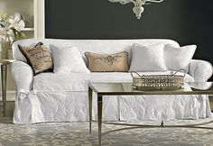 Update rooms with fresh paint, accessories and summer #slipcovers...