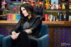 """""""Watch What Happens Live"""" with Andy Cohen. Music Theater, Theatre, Beautiful People, Beautiful Women, Carnegie Hall, Queen Of Everything, Bravo Tv, Idina Menzel, Julie Andrews"""