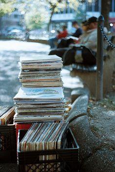 Love a yard sale of vinyl .