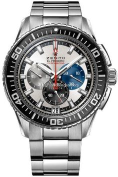 Mens El Primero Stratos Flyback Striking 10th Watch 03.2060.4057/69.M2060