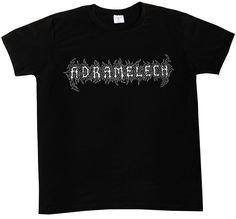 ADRAMELECH-Logo- S,M,L,XL,XXL metal shirt Metal Shirts, Band Merch, T Shirts For Women, Logos, Mens Tops, Logo, Legos