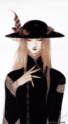 The Art of Yoshitaka Amano: Photo Character Illustration, Illustration Art, Yoshitaka Amano, Vampire Hunter D, Shizuoka, Japanese Artists, Illustrations, Portraits, Aesthetic Art