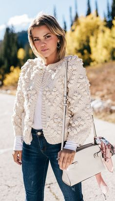 Give your wardrobe a subtle, classy upgrade. You deserve all of this cozy ivory glory. Knit Your Love Cardigan featured by Wild One Forever Blog