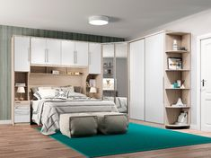 Bedroom Modulated Couple Complete 06 Pieces Fendi Diamond / White HP Henn rnrnSource by marjalps Wardrobe Design Bedroom, Bedroom Closet Design, Bedroom Furniture Design, Girl Bedroom Designs, Living Room Designs, Bedroom Decor, Small Room Design, Home Room Design, Bed Design