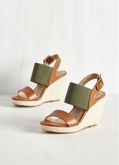 327ce9920cae The wedges with a flexible band for comfort. Brown HeelsBrown Wedge ...