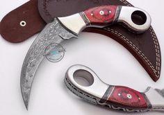 Custom Made Beautiful Damascus steel Double Edge  Karambit Knife (797-32) #UltimateWarrior