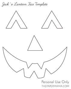 Free Printable easy funny jack o lantern face stencils patterns Halloween Pumpkin Stencils, Pumpkin Crafts, Halloween Pumpkins, Halloween Crafts, Halloween Face, Funny Halloween, Kid Crafts, Halloween Ideas, Funny Jack O Lanterns