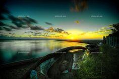 "Sunset on ""Etang Salé les Bains"", Reunion Island"