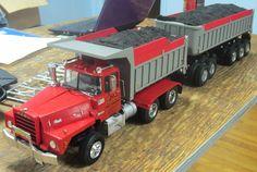 DDM Mack Dump Truck w/ Pup Dump Trailer