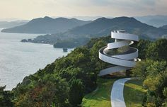 Symbol of marriage: Pictured is the Ribbon Chapel in Hiroshima, Japan, which has twin spir...