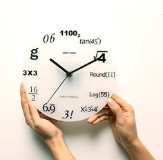 Cheap de pared, Buy Quality reloj de pared directly from China duvar saati Suppliers: 2017 new acrylic wall clock quartz watch clocks living room needle europe still life reloj de pared horloge duvar saati stickers Cool Clocks, Unique Wall Clocks, Math Clock, Digital Clocks, Digital Wall, Math Numbers, Novelty Items, Geek Out, Decoration
